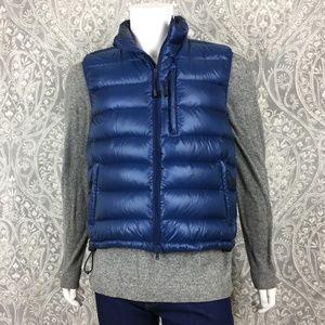 NWOT Aspesi Jil Blue Down Quilted Vest Size XL
